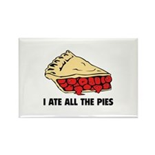 I Ate All The Pies Rectangle Magnet