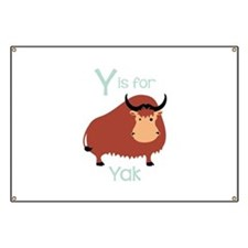 Y Is For Yak Banner