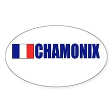 Chamonix, France Oval Decal