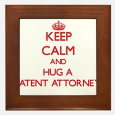 Keep Calm and Hug a Patent Attorney Framed Tile
