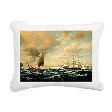 Sailing off the English  Rectangular Canvas Pillow