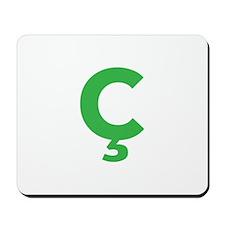 Letter Ç Green Mousepad
