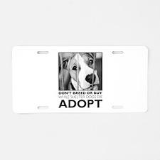 Adopt Puppy Aluminum License Plate