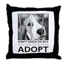 Adopt Puppy Throw Pillow