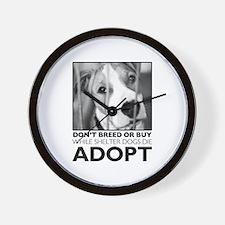Adopt Puppy Wall Clock