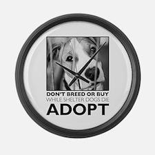 Adopt Puppy Large Wall Clock