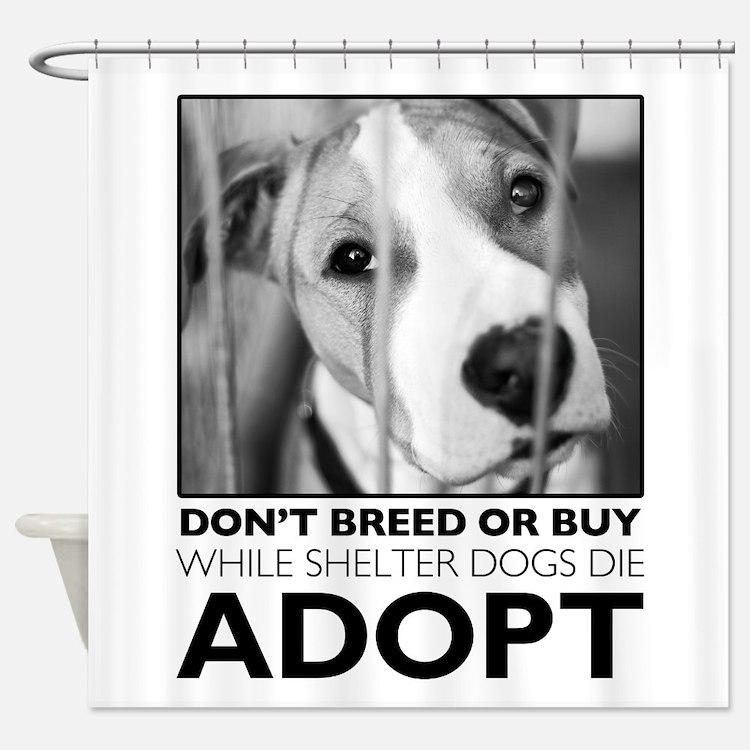 Adopt Puppy Shower Curtain