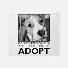 Adopt Puppy Throw Blanket