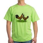 Gold Brabanter Chickens Green T-Shirt