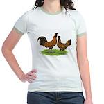 Gold Brabanter Chickens Jr. Ringer T-Shirt