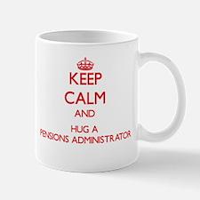 Keep Calm and Hug a Pensions Administrator Mugs