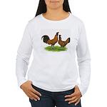 Gold Brabanter Chickens Women's Long Sleeve T-Shir