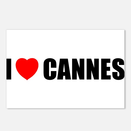 I Love Cannes, France Postcards (Package of 8)