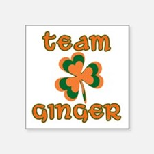 "TEAM GINGER Square Sticker 3"" x 3"""