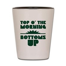 Top O' The Morning - Bottoms Up Shot Glass