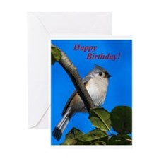 Titmouse Birthday Greeting Card