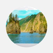 Beautiful Mountain Landscape In Kenay Fjord Nation