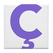 Letter Ç Purple Tile Coaster