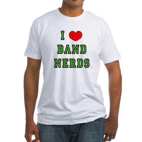 I Heart Band Nerds Fitted T-Shirt