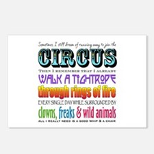 Circus Postcards (Package Of 8) Postcards (Package