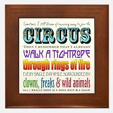 Circus Framed Tile