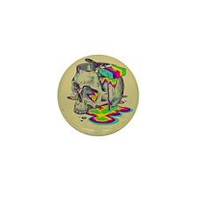 Skull Paint Mini Button