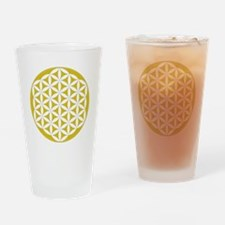 Flower of Life Gold Drinking Glass