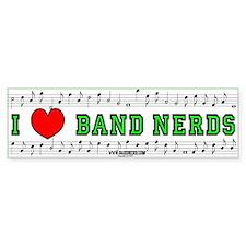 I Heart Band Nerds Bumper Bumper Sticker