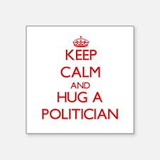 Keep Calm and Hug a Politician Sticker