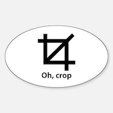 Oh, crop Sticker (Oval)