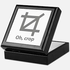 Oh, crop Keepsake Box