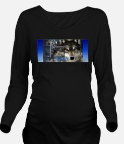 Wolf Long Sleeve Maternity T-Shirt
