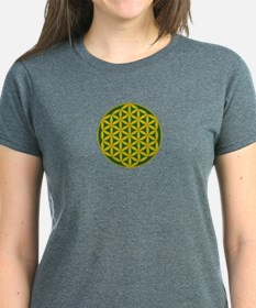 Flower of Life Green Gold Tee