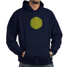 Flower of Life Green Gold Hoodie