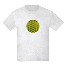 Flower of Life Green Gold T-Shirt