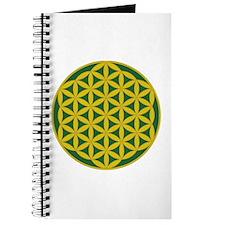 Flower of Life Green Gold Journal