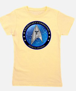 Starfleet Command Medical Division Cres Girl's Tee