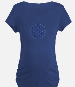 Flower of Life Blue Silver T-Shirt