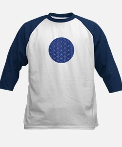 Flower of Life Blue Silver Tee