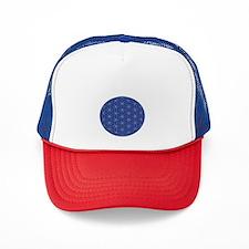 Flower of Life Blue Silver Trucker Hat