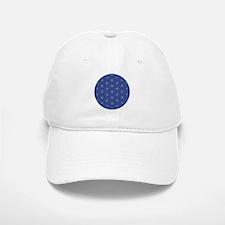 Flower of Life Blue Silver Baseball Baseball Cap