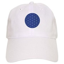 Flower of Life Blue Silver Baseball Cap