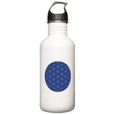 Flower of Life Blue Si Water Bottle