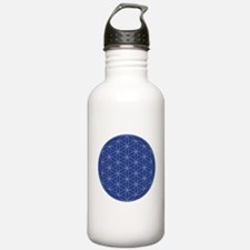 Flower of Life Blue Si Water Bottle