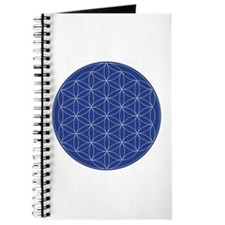 Flower of Life Blue Silver Journal