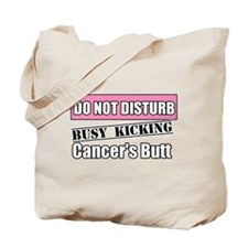 Do Not Disturb Breast Cancer Tote Bag