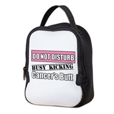Do Not Disturb Breast Cancer Neoprene Lunch Bag