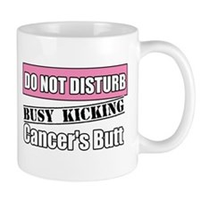 Do Not Disturb Breast Cancer Mugs