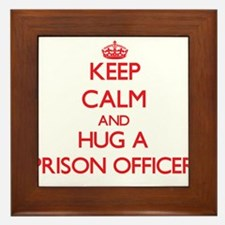 Keep Calm and Hug a Prison Officer Framed Tile