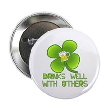 "Drinks Well with Others 2.25"" Button (10 pack)"
